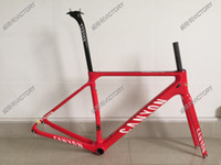 Wholesale Newest Red Glossy Carbon Frame Road Bike Frame Size XXS XS S M L Available BB86 BB30 or BB68 adapter Many Colors Choice