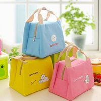 Wholesale Movie Big White Lunch Bag Cartoon Student Picnic Tote Bag School Outdoor Travel Lunch Bag