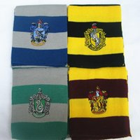 Wholesale FedEx Express Harry Potter Scarf Gryffindor School Unisex Knitted Striped Scarf Gryffindor Scarve Harry Potter Hufflepuff Scarf Cosplay