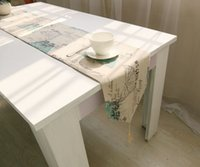 Wholesale 30 Korean cotton and linen big butterfly design fresh table flag selling cloth table cloth