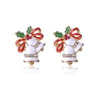 bell earring backs - Christmas earrings cute bell earrings Korea imported allergy earrings