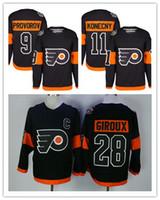 Wholesale Men Philadelphia Flyers Claude Giroux Ivan Provorov Travis Konecny Black Stadium Series Player Premier Jersey