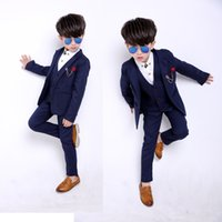 Wholesale Brand New Boy s business suit and bridesmaids dark colors autumn and winter style