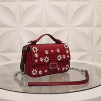 band shoulder - Sweet Flower Lady Hand Bags Fashion Diamonds Mini Hand Bags for Women with Single Shoulder Band