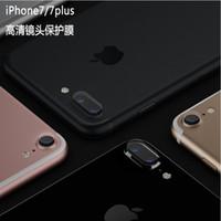 al por mayor teléfono cubre pegatinas-Para el iphone 7 más vidrio templado lente de la cámara protector de la pantalla trasera de la película protectora trasera cubierta del teléfono protector para el iPhone 6 6s 7 más i7