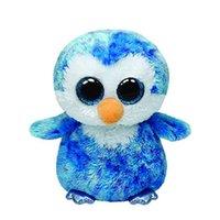 beanie babies penguin - Ty Beanie Boos Blue Penguin Plush Toy Doll Baby Girl Birthday Gift cm Big Eyes Stuffed Animal Doll