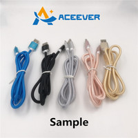 Wholesale Sample Metal Braided Charging Cable cm m m Good Quality A Micro USB I7 for Apple Samsung Galaxy S5 Huawei