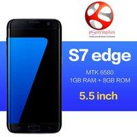 Wholesale Goophone S7 edge bit Quad core show G GB RAM GB ROM smartphone android goophone s7 edge Metal frame