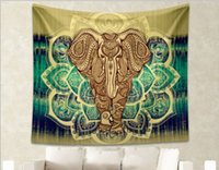 Wholesale Bohemia Indian Mandala Beach Throw Printed Tapestry Hippy Tablecloth Beach Towel Yoga Polyester square Mat QZZW038