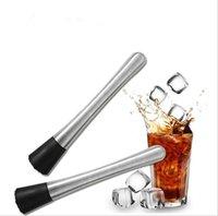 bar muddler - New Stainless steel lemon metal masher Stir bar bartenders tools masher Cocktail Muddler JF