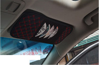 Wholesale Car Styling New Fashion High quality Car CD Holder DVD Card Visor Case Holder Clipper Car Organizer Bag Automotive Accessories