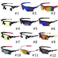 100pcs de mise à niveau vélo vélo sports lunettes de mode lunettes de soleil pour hommes / femmes équitation lunettes de pêche 12 couleurs