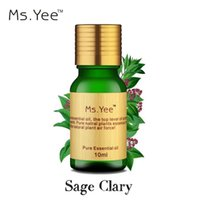 Wholesale Ms Yee pure Sage Clary essential oils is super excellent calm down oil relax mental stress reduce anxiety Depression ml