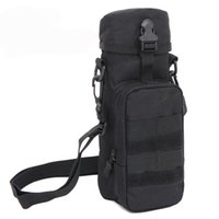 Wholesale Outdoors Sports Tactical Molle Gear Zipper Water Bottle Pouch Kettle Waist Shoulder Bag High quality