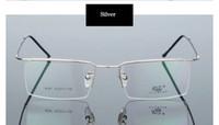 Wholesale Men s and Women s Metal optical eyewear Glasses Frames Half Rim Black Designer classical style