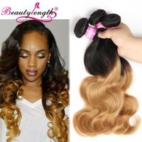 Wholesale Ombre Brazilian Body Wave Bundles Human Hair Extensions Colored Brazilian Human Hair Weave T1B27 Bundles Of Brazilian Ombre Hair Bundle