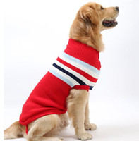 Wholesale Cheap Autumn Winter Dog Pet Sweater Pet Jumper Classic strip Dog Jumper Cloth For Medium Dogs