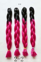 Wholesale Chemical fiber braid gradient color color Jumbo Braid Hair high temperature wire manufacturers selling quality assurance