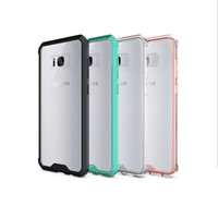 Wholesale S8 Case Soft TPU Bumper Clear Hybrid Back Cover Case For Samsung S8 S8 plus Four Colors Free DHL Shipping