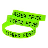 bieber fever - Printed Bieber Fever Silicon Wristband For Music Fans A Great Way To Show Your Support