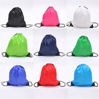 Wholesale New cute Drawstring Beam pockets Solid color Backpack Shopping Bags Fashion Storage Bags Gifts Bags B1058