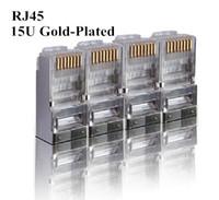 Wholesale 15U RJ connector shielded Ethernet cable plug CAT6 RJ45 plug FTP P8C Connector RJ45 modular plug free shippping
