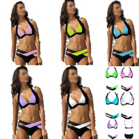 blends best suit colors - New Summer Sexy Patchwork Bikini Woman Swimsuit Bandage Swimwear Best Soft Swimsuits Bathing Suit Black And White hight quality colors