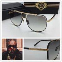 al por mayor hombres más gafas de sol-Gafas de sol dita dita mach cinco hombres de moda marca diseñador sunglass sqaure marco lente cristal de alta calidad 18 K oro chapado original caso