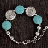 al por mayor increíble joyas hechas a mano-Joyería de diseño asombroso Bohemia brillante con estilo turquesa granos encantadora Brazalete hechos a mano accesorios