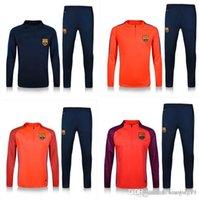 barcelona jersey kit - Top quality kits Barcelona Training Football Training suit long sleeve soccer Soccer tracksuit whit pants ET