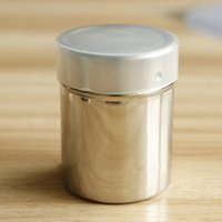 CE / EU baking cocoa - Cake Tools Stainless Steel Powder Sieves Sugar Cocoa Powdered Sieving Storage Tank Sieve with Cover Baking Tools cm
