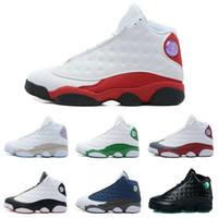 Compra Zapatos al por mayor-[Con la caja] la gota que envía los zapatos corrientes al por mayor de las zapatillas de deporte de los zapatos de baloncesto de los nuevos del aire 13 de la venta al por mayor de Jumpman NUEVOS de calidad superior 13 13s para los hombres US8-13