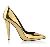 Nouveaux chaussures à talons hauts Sexy Woman Pumps Wedding Party Spike Talon Pointed Toe Scarpe Donna Red Black Gold Women Shoes
