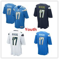 authentic chargers jersey - 2016 Youth Chargers jerseys Philip Rivers White Navy Blue Stitched Logo cheap Kids San Diego authentic football shirts Youth Size S XL