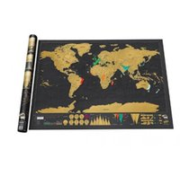 Wholesale promotion Deluxe Scratch Map Travel Black Scratch World Map Coating Poster mapa mundi x59 cm