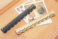 Wholesale Cute Stationery Lace Brown Wood Ruler Sewing Ruler Office School Accessories