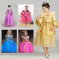 Halloween Cosplay Baby Girls Dress Cendrillon Enfants Sleeping Beauty Princess Rapunzel Aurora Frozen Dresses Kids Party Costume Clothing