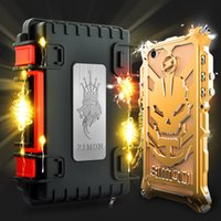 Metal apple ii plus - 2017 THOR II iphone case for iphone s plus plus metal anti fall border mobile phone cover mechanical arm protective cellphone case