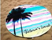 Wholesale No Fading Round Bikini Cover Ups Beach Towl Sunbath Shawl Beachwear Bath Towel Yoga Blanket Outing Picnic Mat CM