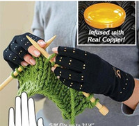 Wholesale Copper Hands Men Women Black Copper Hands Arthritis Gloves Therapeutic Compression For Sports For Health Care With Logo Package