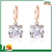 Wholesale Luxury Brand Swarovski Elements Crystal Gemstone Earrings Hoop For Women High Quality Jewelry Fashion k Gold Front Back Earrings