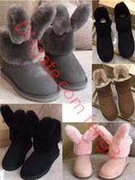 Wholesale Hot style Winter snow boots sexy women comfortable snow boots suede shoes high quality cotton warm winter boots