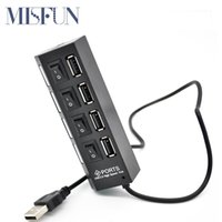 Wholesale Slim Ports USB Hub USB Hub High Speed USB Splitter Adapter Hub with Cable on off Switch For Macbook PC Laptop