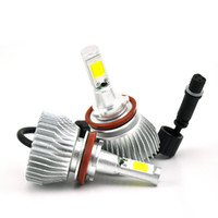 Wholesale H7 H13 H11 H1 COB LED Headlight W LM All In One Car LED Headlights Bulb Head Lamp Pure White K
