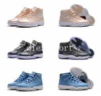 achat en gros de paniers cadeaux gros-Chaussures de basket-ball en gros rétro 11s cool gris Maroon cadeau ultime de vol hommes de mode athlétique de la marque de détail Rétro 11 XI sport baskets
