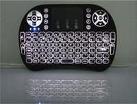 Rii i8 mini sans fil rétro-éclairé clavier souris multi-touch rétroéclairage pour MXQ Pro M8S plus T95 S905 S812 Smart TV Android TV Box PC