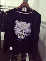 Wholesale 2016 winter fashion Hoodie Men tiger embroidery Mens hoodies and sweatshirt men s Long sleeve O neck cool jumper