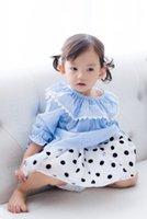 baby doll clothes lot - 2017 Spring Baby Shirt Tee Shirts Vertical Striped Tshirts Doll Collar Children Clothing Tops Princess Shirts Blue A6092