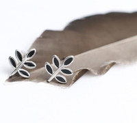 Wholesale Silversmith sterling silver allergies Japanese small leaves sprout leaves the stud earrings earrings for women