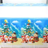 bamboo dinner ware - lovely merry christmas theme home decor tablecloth cover table ware party supplies dinner maps cm